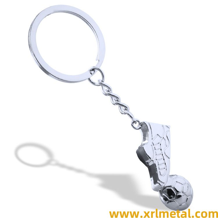 Foot on the football key ring